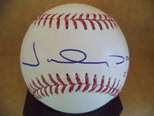 Autographed Damon Johnny Baseball (JOHNNY DAMON #18 WS CHAMPS RED SOX SIGNED AUTOGRAPHED M.L. BASEBALL W/COA)