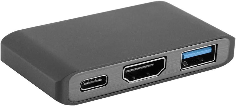 Tutmonda USB-C Tipo C a HDMI Puerto de Carga USB Adaptador Dongle Cable conversor Video Negro para Nintendo Switch Laptop PC: Amazon.es: Electrónica
