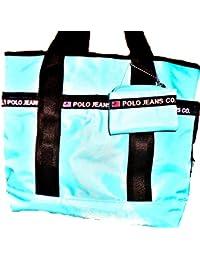 Polo Jeans Company Nylon Aqua Tote Bag � 40 � Product Details � RALPH LAUREN