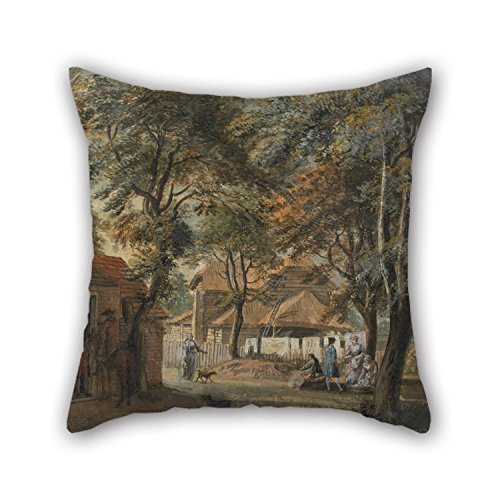 [Uloveme 16 X 16 Inches / 40 By 40 Cm Oil Painting Paul Sandby - Halfway House, Sadler's Wells Pillow Shams ,twin Sides Ornament And Gift To Seat,wife,deck Chair,kitchen,outdoor,kids] (John Paul Jones Costumes)