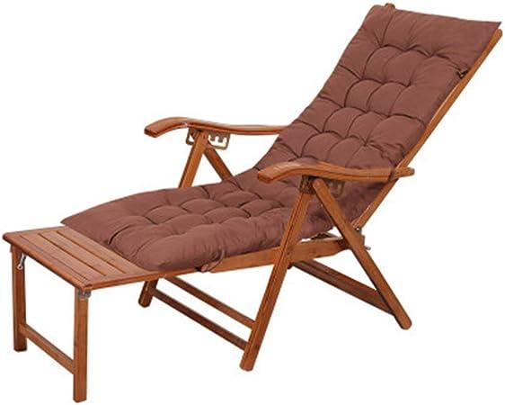 Sedie Sdraio Per Terrazzo.Haiyu Sedia Sdraio In Bambu Poltrone Reclinabile Da Giardino