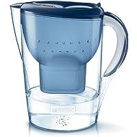 BRITA Marella azul XL – Jarra de Agua Filtrada con 1 cartucho MAXTRA+, Filtro de agua BRITA que reduce la cal y el cloro…