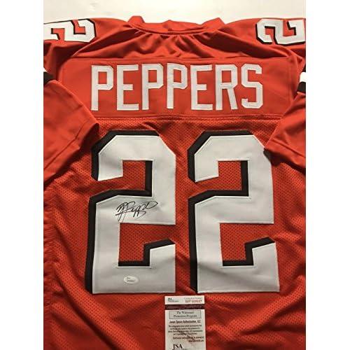 wholesale dealer f3809 e8864 Autographed/Signed Jabrill Peppers Cleveland Browns Orange ...