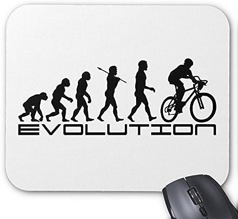 Bicicleta bicicleta cojín de ratón ciclista evolución: Amazon.es: Hogar