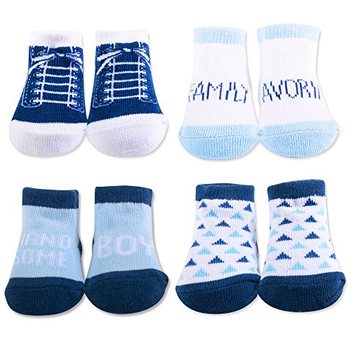 (Baby Essentials Baby Gift Box Handsome Boy Family Favorite Shoe Shocks 4 Pairs)