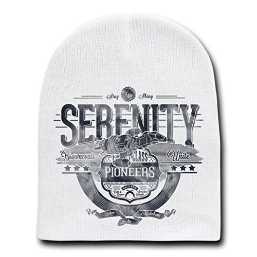 Serenity TV Show Parody - White Adult Beanie Skull Cap Hat