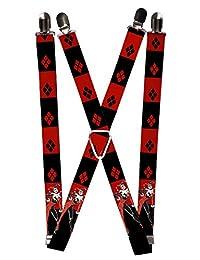 Joker DC Comics Supervillain Harley Quinn Stripes Suspenders