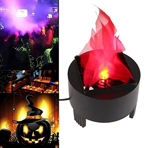 TOPCHANCES 3W LED Artificial Fire Lamp Fake Flame Effect Lamp 3D Fire Campfire Centerpiece Flame Lightning Torch Light for Christmas Halloween Party Decoration (US Plug) (4.7inch x 3.9inch x 5inch) by TOPCHANCES (Image #7)'