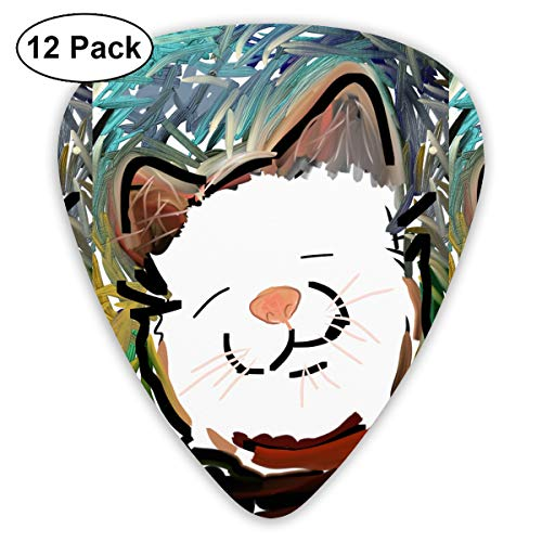 Whimsical Cat Face Small Medium Large 0.46 0.73 0.96mm Mini Flex Assortment Plastic Top Classic Rock Electric Acoustic Guitar Pick Accessories Variety Pack