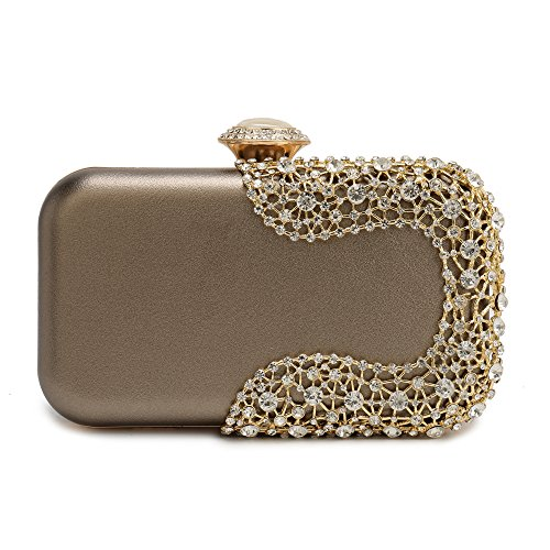 Bag Bridal Purse - Gold Evening Clutch, Evening Bag Wedding Handbag Bridal Purses Cross Body Bag for Cocktail Prom