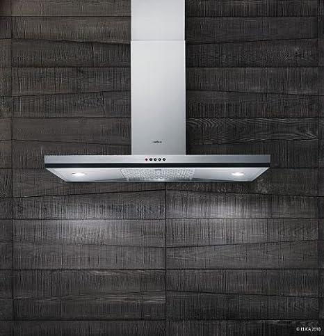 Elica Cube IX/A/90 630 m³/h De pared Acero inoxidable - Campana (630 m³/h, Canalizado, 66 dB, De pared, Acero inoxidable, Vidrio, Acero inoxidable): Amazon.es: Hogar
