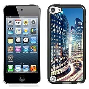 NEW Unique Custom Designed iPod Touch 5 Phone Case With La Defense Paris Skyline_Black Phone Case