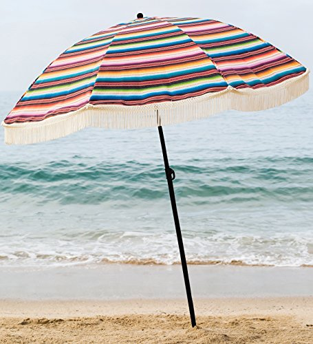 Beach Brella - Las Brisas 100% UV All-in-One Luxury Designed Beach Umbrella with Custom Carrying Bag, Light Weight