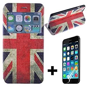ZL The British Flag Pattern PU Leather Full Body with Screen Protector Cover for iPhone 6 Plus
