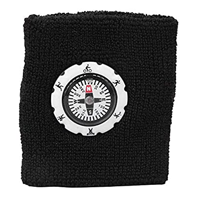 Alomejor Sports Wrist Band Cotton Sweatbands Sports Wristbands Sweat Wrist Bands Brace with Compass for Basketball Tennis Gymnastics Golf Running Estimated Price £5.39 -