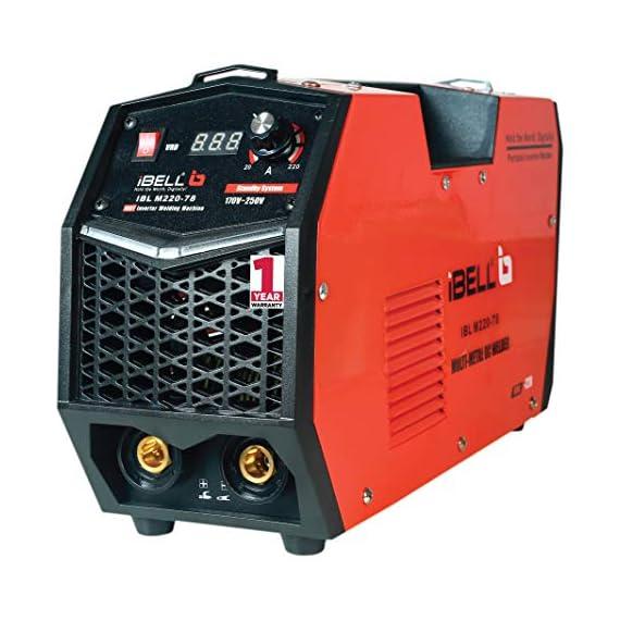 iBELL 220-78 Inverter ARC Multi Metal (SS/IRON/CARBON STEEL/COPPER/ALUMINIUM/ZINC) Welding Machine (IGBT) 220A - 1 Year Warranty 1