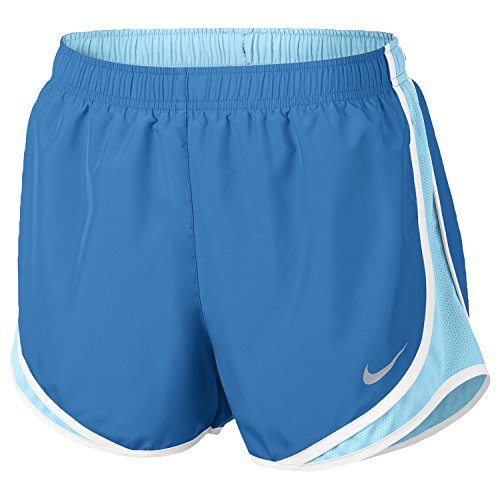 NIKE Women's Dry Tempo Running Short Light Photo Blue/Polarized Blue/Wolf Grey - Photo Polarized