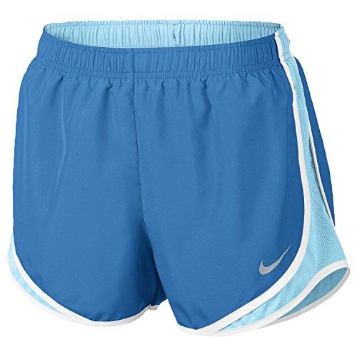 NIKE Women's Dry Tempo Running Short Light Photo Blue/Polarized Blue/Wolf Grey - Photos Polarized