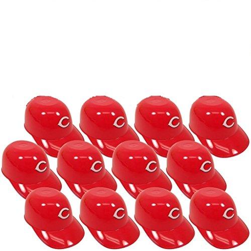 Cincinnati Reds Mini Batting Helmet (MLB Mini Batting Helmet Ice Cream Sundae/ Snack Bowls-12 Pack-Cincinnati)