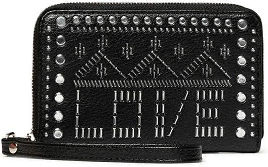 Desigual Mone/_azabache Mini Portefeuille zipp/é pour Femme