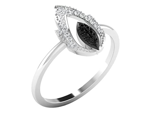 bague en argent avec vrai diamant