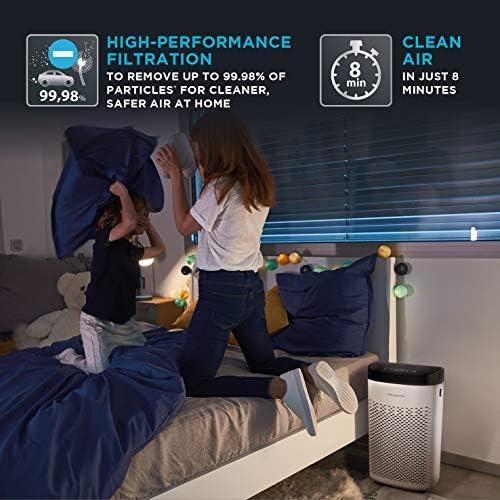 Rowenta Pure Air Essential Purificateur d'Air Intérieur, Haute performance, Purification, 3 niveaux de filtration, 3 vitesses, Mode silencieux, Indicateur de changement de Filtre, Minuteur PU2530F0