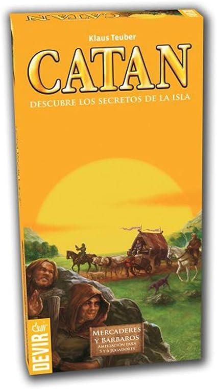 Devir - Catan, Mercaderes y Bárbaros, juego de mesa (BGMER56) - Ampliación para 5 y 6 jugadores: Amazon.es: Juguetes y juegos