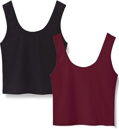 Womens V-Neck Capped Short Sleeve Crop Top Tee Vest T-Shirt Plain Stretch Yoga