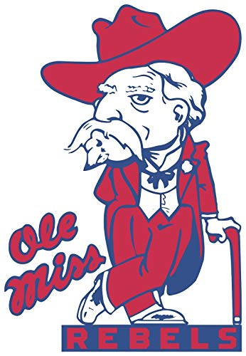 USTORE Vinyl Sticker Decal Ole Miss Rebels NCAA Weather Resist for Windows Car Cell Phone Bumpers Laptop Wall, 3