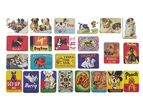 Dog Fridge Magnets Refrigerator Magnet Magnetic Souvenirs Mini Small Vintage Retro for Stainless Steel Board Kitchen car Office Set of 24