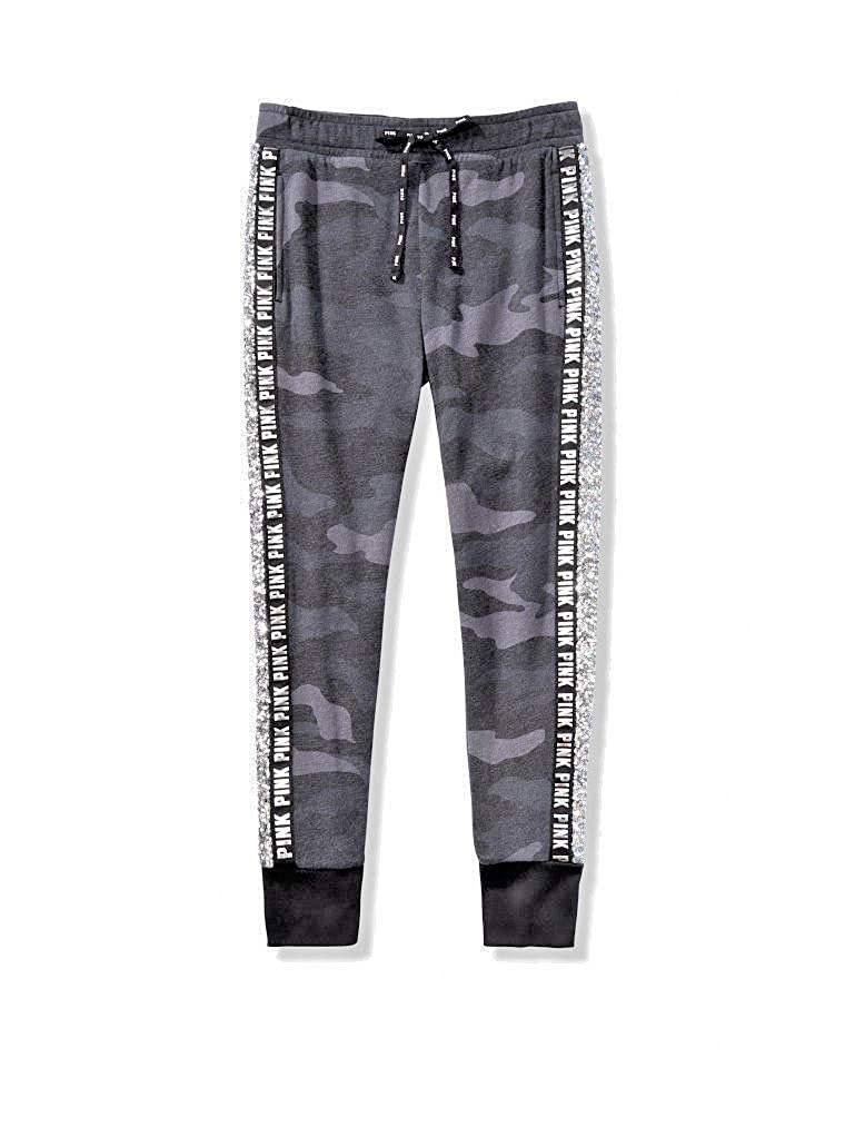 Camouflage Victoria Secret Pink Sequin Bling Skinny Joggers