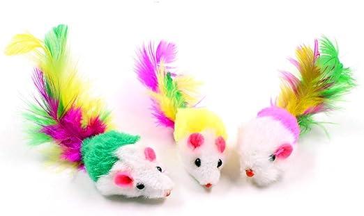 JFHGNJ Colorido 6pcs / Set Ratones Juguetes para Gatos Falso Ratón Interactivo Divertido Juguete de Peluche de Juguete para Gatos Gatito Juguetes 3 Piezas_2: Amazon.es: Hogar