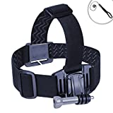 USA Gear Adjustable Head Strap Compact Camera Mount with Elastic Stretch-Fit Band , J Hook and Tripod Screw Adapter – Works With Canon PowerShot SX700 HS , Nikon Coolpix S810c , Samsung WB350F and More