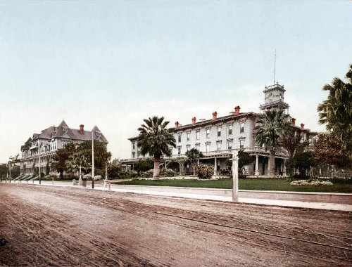Arlington Hotel Santa Barbara 1901 Reproduction Vintage/Antique Artwork Collection of Old Photos of Cities 8.5