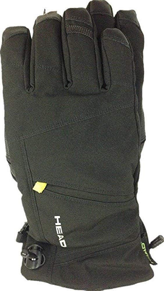 Head Mens DuPont Sorona Insulated Ski Glove With Pocket Black//Lime,XS