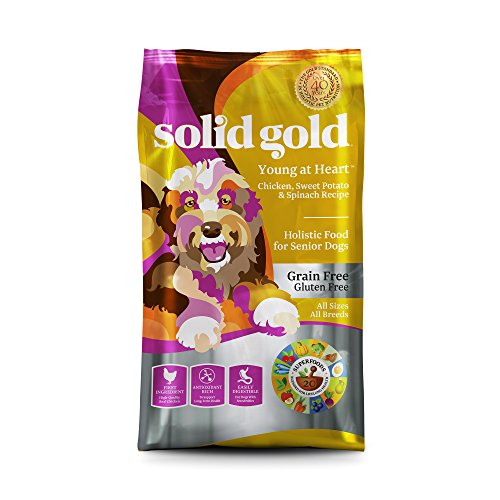 Solid Gold 12424 Young At Heart Chicken, Sweet Potato & Spinach Grain Free Senior Recipe, 24 lb