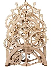 ROBOTIME 3D Self-Assembly Puzzle Adult Craft Set Brain Teaser Puzzles Pendulum Clock