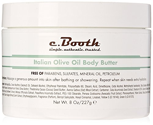 Body Oil 8 Oz (C. Booth Body Butter, Italian Olive Oil, 8 Fluid Ounce)