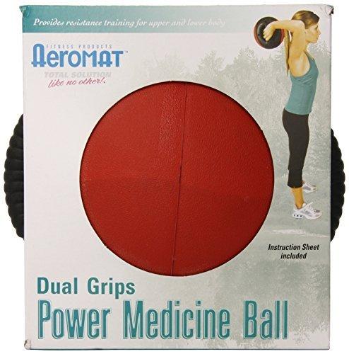Aeromat Dual Grip Power Medicine Ball, 9 cm 6-pound, schwarz ROT by Aeromat