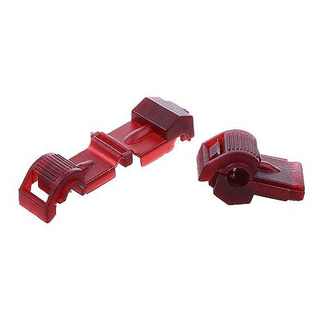 Amazon.com: AIRIC 100pcs Nylon T-Tap Wire Splice Connector Red Tap ...