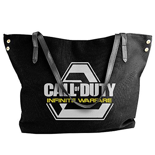 [First-person Shooter Video Game Shoulder Bag For Women Black] (Matt Barkley Costume)