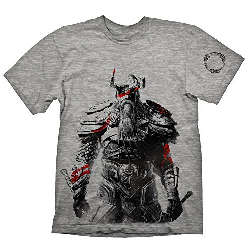 (The Elder Scrolls Tribesman Large T-Shirt, Grey)