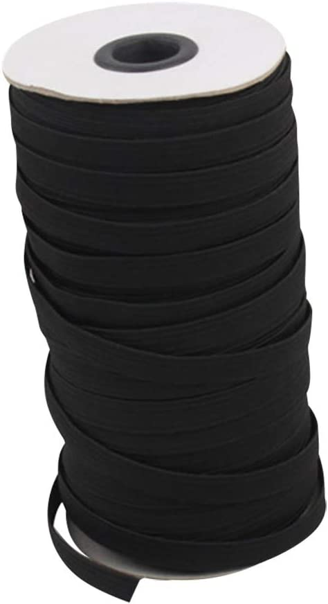 Flat 1//3 Black, 10 Yards by Bodrum Wooden Elastic Bands for Sewing Black White 10 Yards Elastic String Cord Bands Rope for Sewing Crafts DIY Mask
