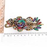 Doyeemei Europearn Classical Magnificent Peacock Spread With Vintage Phoenix Crystal Hair Pin Clip