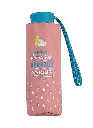 Paraguas Plegable Mr. Wonderful En días lluviosos Abrazos amorosos: Amazon.es: Equipaje