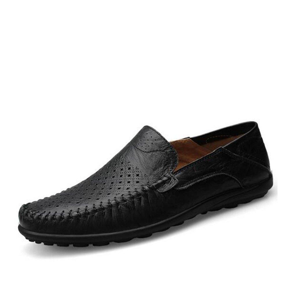Mocasines y Slip-Ons de Hombre Primavera / Verano / Cuero Confort Casual Slip-on Negro / Marrón / Amarillo Caminar GLSHI ( Color : Black , tamaño : 41 ) 41|Black