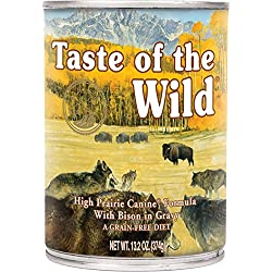 Taste of the Wild High Prairie Bison in Gravy Wet Dog Food Cans 12 Pack 13.2 Ounce Ea. Fast Delivery Just Jak;s Pet Market