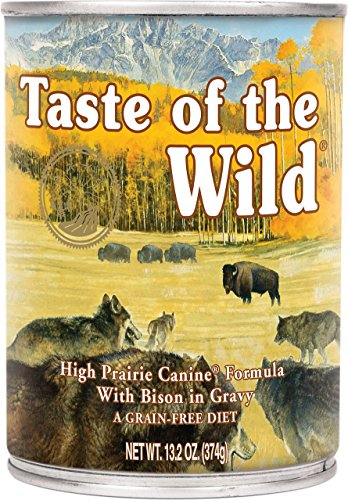 Taste of the Wild High Prairie Bison in Gravy Wet Dog Food Cans 12 Pack 13.2 Ounce Ea. Grain Free Dog Food! by Taste of the Wild (Image #1)
