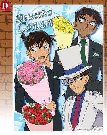 Sega Lucky lottery Detective Conan series 20th anniversary Ver. D Award Clear Poster Kudo Shinichi / Kid / Harley Hartwell separately Gosho Aoyama Conan lottery Shinichi Kid Heiji D