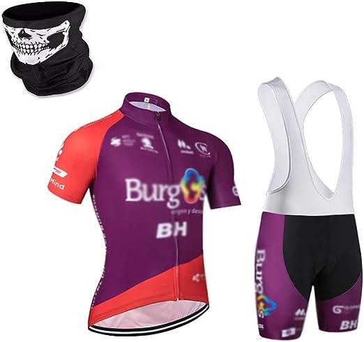 JINGLU Conjunto Ropa Equipacion Traje Ciclismo Hombre para ...
